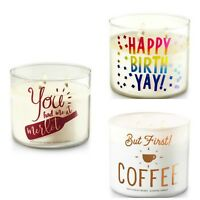 Buy 1 Get 1 25% OFF Bath & Body Works 3-Wick Candle Words & Sayings 14.5oz