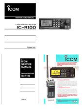 "COPY INSTRUCTION + SERVICE MANUALS + 5 x 11x17"" DIAGRAMS COLOR AD for ICOM R-100"