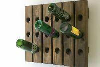 Wood Wine Rack Wine Riddling Rack Handmade Wood Wall Hanging