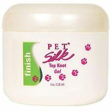 PET Silk Top Knot Gel 4 oz (118ml) - Hold Fur Hair in Place for Dog Hair Bows