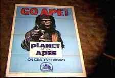 PLANET OF APES FILM FESTIVAL GO APE 27X41 ORIG TV MOVIE POSTER 1974  TRI-FOLD