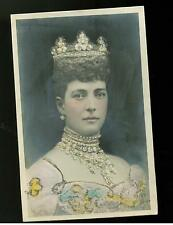 Mint Color Embossed RPPC Postcard Queen Alexandra