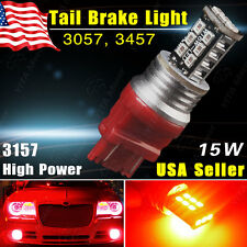 1X High Power 15W 3157 LED Pure Red Tail Brake Parking Stop Car Light Bulb 3057