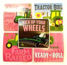 15 John Deere Farm Fun Tractor Girl Stickers Party Favors Teacher Supply