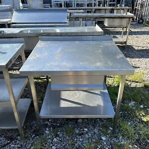 Stainless Steel Commercial Prep Table with Drawer (95cm) Read Description