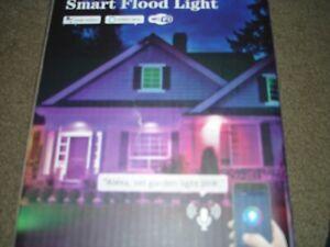 2pc LED Spotlight Floodlight 25W Smart WiFi App Flood light Lights IP66 (CHANGEM