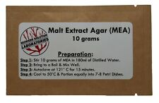 Malt Extract Agar Mea 10 Grams Great For Growing Mushrooms Free Shipping