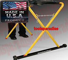 AUTO BODY SHOP X Frame Folding Work Stand Mover Wheel Dolly Roller Caster
