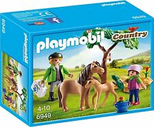 BNIB Playmobil 6949 PONY FARM Vet with Pony & Foal