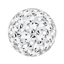 Piercing Replacement Ball, Multi Crystal Stones Crystal Clear | 4, 5 and 6 mm