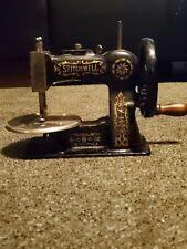 Antique Stitchwell Toy Sewing Machine Cast Iron