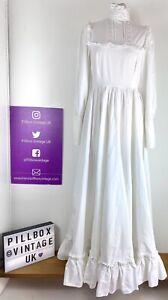70s Laura Ashley Size 10/12 Cottagecore Prairie Bridgerton Pure Cotton Dress