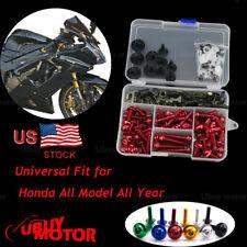 Honda CBR900RR CBR893 1992 1993 1994 1995 Complete Fairing Bolt Kit Screws Red