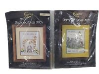 Lot of 2 Golden Bee Counted Cross Stitch Cat Kit Kits 20147 20193 New and Unused