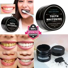 Organic Coconut Activated Charcoal Teeth Whitening NATURAL Powder Mint Bamboo