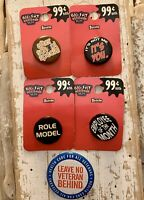 Lot Of 5 Novelty Buttons