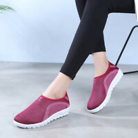 Unisex Women Men Athletic Breathable Sneaker Slip On Sport Casual Loafer Shoes T