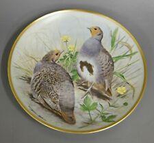 Wandteller Franklin Porcelain 1979 Limoges common patridge #6