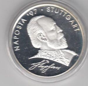 Deutschland  16,5 Euro  NAPOSTA Stuttgart  1997  Silber  PP