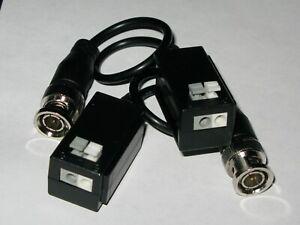 2Pcs 1CH Video /& Power Passive Balun for HD-CVI//TVI//AHD Camera Balun Adapter
