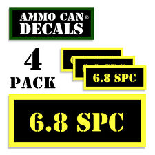 6.8 SPC  Ammo Can Label 4x Ammunition Case stickers decals 4 pack YW MINI 1.5in
