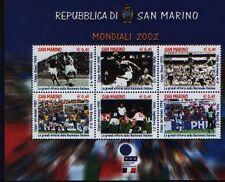 SAN MARINO 2002  foglietto mondiali di calcio  nuovo **