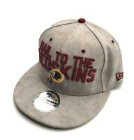 New Era Washington Redskins 9Fifty Spotlight Faux Leather Snapback Gray/Burgundy