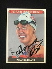 Amanda Beard Olympic Gold Medalist 2015 Sports Kings Gum Auto JSA COA
