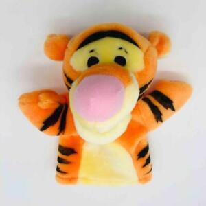 "Vintage Mattel Disney 9"" Tigger Plush Hand Puppet Winnie the Pooh Tiger Toy"