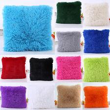 Soft Plush Square Pillow Case Sofa Waist Throw Cushion Cover Home Decor Plain