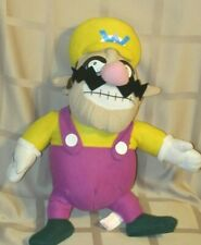 "Super Mario Bros, 18"" Wario plush w/ tush tag 2004 Nintendo / Kellytoy Rare"