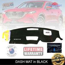 DASH MAT MAZDA CX-9 TC Sport Touring GT Azami + HUD 7/2016-19 DM1439D CX9 BLACK