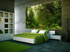 """Prepasted Wall Mural Foto Wall Decor WOODS Forest Wallpaper  82.7"""" X 55.5"""" BZ933"""