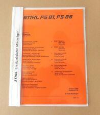 STIHL FS 81  FS 86 Freischschneider Ersatzteilliste Original