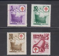 SPAIN (1949) - MNH COMPLETE SET SC SCOTT RA28/29 RAB 2 RAC 10 BOAT GALLEON