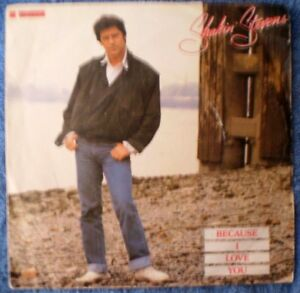 "SHAKIN' STEVENS-BECAUSE I LOVE YOU/TELL ME ONE MORE TIME ""RARE UK PROMO"" PS 45"
