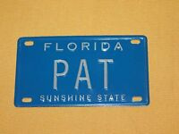 "VINTAGE 4"" X 2 1/4"" METAL PAT FLORIDA SUNSHINE STATE  MINI LICENSE PLATE"