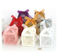 Laser Cut Flower Candy Box Wedding Favor for Bridal Shower Anniverary Birthday