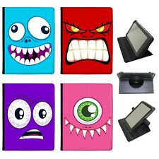 Azzumo Monster Faces Faux Leather Case Cover / Folio for the Samsung Tablet