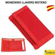 MONEDERO LLAVERO MOTERO - LLAVEROS PARA MOTO EN COLOR ROJO - CARTERA -