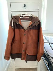 RARE MENS VINTAGE HERITAGE RESEARCH HOODED WAXED HOODED PARKA JACKET SIZE M RiRi
