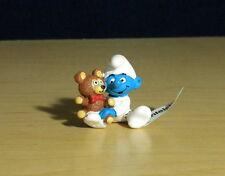 Smurfs Baby Smurf with Teddy Bear Vintage Figure Toy PVC Figurine Peyo Lot 20205