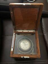 Original Hamilton Model 22 mounted chronometer, some dings but in good shape