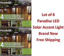 Paradise 8 Pack Solar Powered LED Accent Deck Dock Garden Lights - Free Shipping