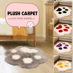 Cute Cat Paw Shape Plush Carpet Chair Cushion Desk Mat Home Living Room Decor