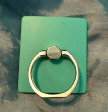 silver mobile phone holder ring - swivel mechanism  -  adhesive stick to wall