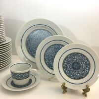 Noritake Cielito Lindo China Dinnerware Blue White 8 Settings and Serving Pieces