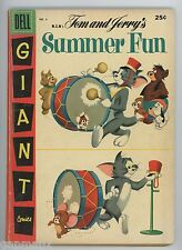 Tom and Jerry Summer Fun #4 Dell 1957 Giant Comic Spike & Tyke Droopy Flip n Dip