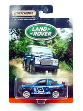 MATCHBOX / Land Rover Freelander (Metallic Blue) - Mint on blister card.