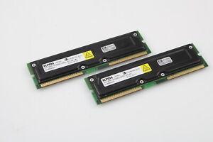4XElpida 800-45 512MB RDRAM ECC RIMM MEMORY MC-4R512FKE8D-845A HP:1818-8458